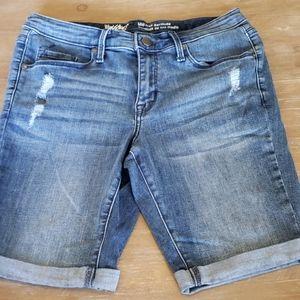 Mossimo denim Mid-Rise Blue Jean Bermuda Shorts $6